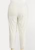 Plus Size Striped Bengaline Pants alternate view