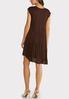 Brown Pleated Swing Dress alternate view