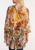 Plus Size Fresh Floral Mesh Kimono alternate view