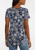 Plus Size Pointed Hem Floral Top alternate view