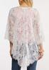 Plus Size White Lace Kimono alternate view