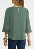 Plus Size Criss Cross Lace Sleeve Top alternate view