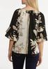 Plus Size Natural Floral Poet Top alternate view