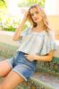 Ruffled Square Neck Top alt view