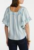 Plus Size Ruffled Square Neck Top alternate view