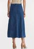 Plus Size Denim Panel Maxi Skirt alternate view