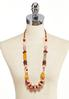 Long Chunky Bead Necklace alternate view