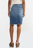 Plus Size Distressed Denim Skirt alternate view