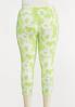 Plus Size Lime Tie Dye Leggings alternate view