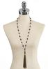 Olive Green Tassel Necklace alternate view