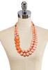 Layered Orange Bead Necklace alternate view