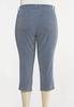 Plus Size Cropped Nautical Stripe Pants alternate view