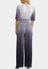 Pleated Ombre Blue Jumpsuit alternate view