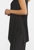 Plus Size Black Pleated Pant Set alt view