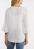 Plus Size Pleated Sleeve Top alternate view
