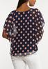 Plus Size Polka Dotted Capelet alternate view
