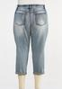 Plus Size Shape Enhancing Cropped Jeans alternate view