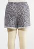 Plus Size Gray Leopard Shorts alternate view