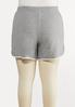 Plus Size Gray Athleisure Shorts alternate view
