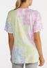 Plus Size Tie Dye Knotted Tee alternate view