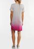 Plus Size Striped Dip Dye Athleisure Dress alternate view