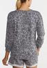 Plus Size Gray Leopard Knotted Top alternate view