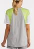 Plus Size Colorblock Number Tee alternate view