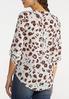 Plus Size Aqua Leopard Utility Shirt alternate view