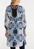 Plus Size Navy Tie Dye Kimono alternate view
