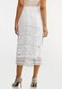 Plus Size White Crochet Pencil Skirt alternate view