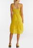 Plus Size Yellow Eyelet High- Low Dress alternate view