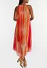 Plus Size Melon Stripe Flyaway Dress alternate view