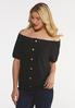 Plus Size Eyelet Puff Sleeve Top alt view