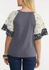 Plus Size Floral Crepe Waffle Top alternate view