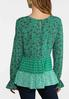 Plus Size Green Mixed Floral Top alternate view