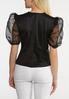 Plus Size Sheer Puff Sleeve Top alternate view