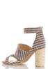 Cylinder Heel Linen Sandals alternate view