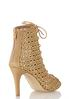 Wide Width Open Weave Lace Up Booties alternate view