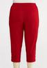 Plus Size Cropped Red Lattice Pants alternate view
