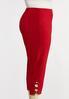 Plus Size Cropped Red Lattice Pants alt view