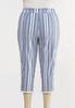 Plus Size Striped Fringe Pants alternate view