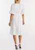 White Faux Wrap Dress alternate view
