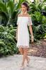 White Eyelet Dress alt view