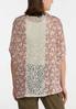 Plus Size Lace Trim Mauve Floral Cardigan alternate view