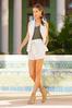 Striped Linen Shorts alt view