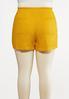 Plus Size Tie Front Linen Shorts alternate view