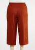 Plus Size Cropped Solid Linen Pants alternate view