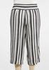 Plus Size Metallic Stripe Cropped Pants alternate view