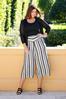 Plus Size Metallic Stripe Cropped Pants alt view