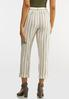 Cropped Striped Linen Pants alternate view